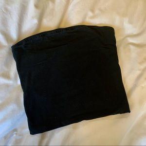 BRANDY MELVILLE BLACK BASIC TUBE CROP TOP